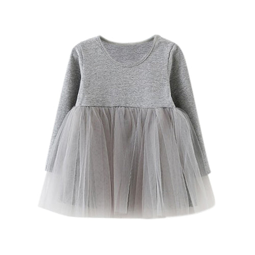 Long Sleeve Fluffy Tutu Dress