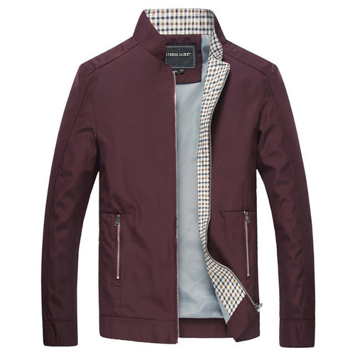 Casual Stand Collar Bomber Jacket