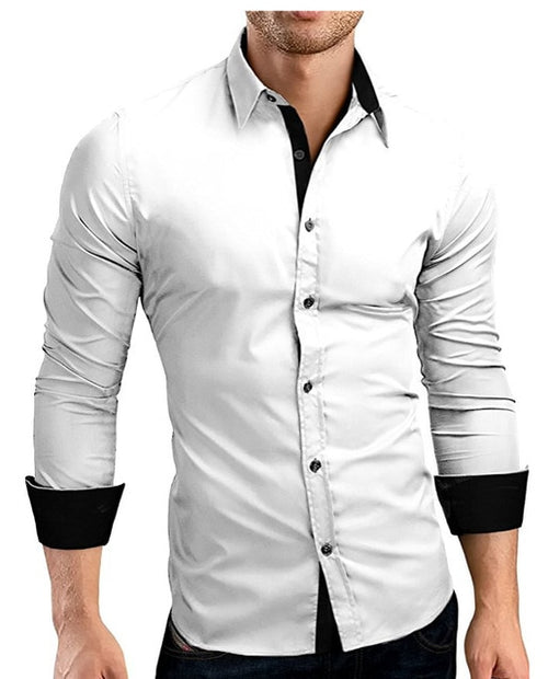 Men's Long Sleeve Casual Slim Fit Dress Shirts