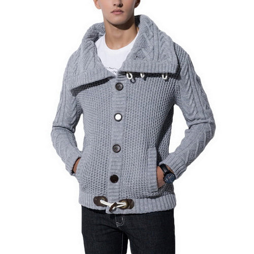 Slim Fit Button Knitting Sweater