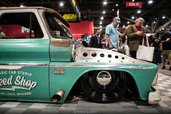 Classic Car studio speed shop bagged ans twin turbo chevy c10