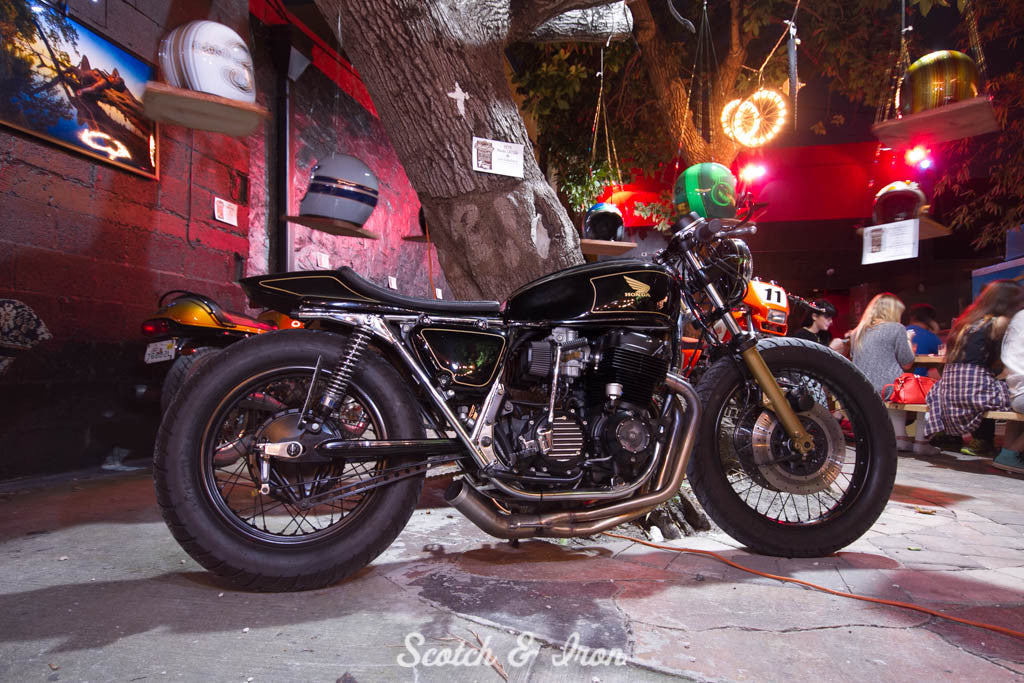Honda CB cafe racer scotch and iron