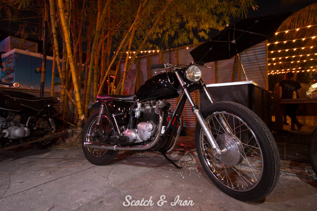 triumph bobber miami scotch and iron