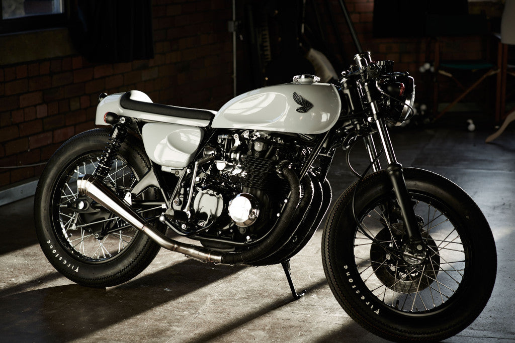honda cb550 built by IDP custom moto featured on scotch and iron