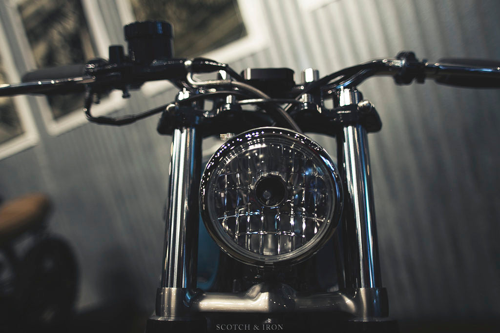 honda cb550 scrambler by J. Webster Designs custom headlight
