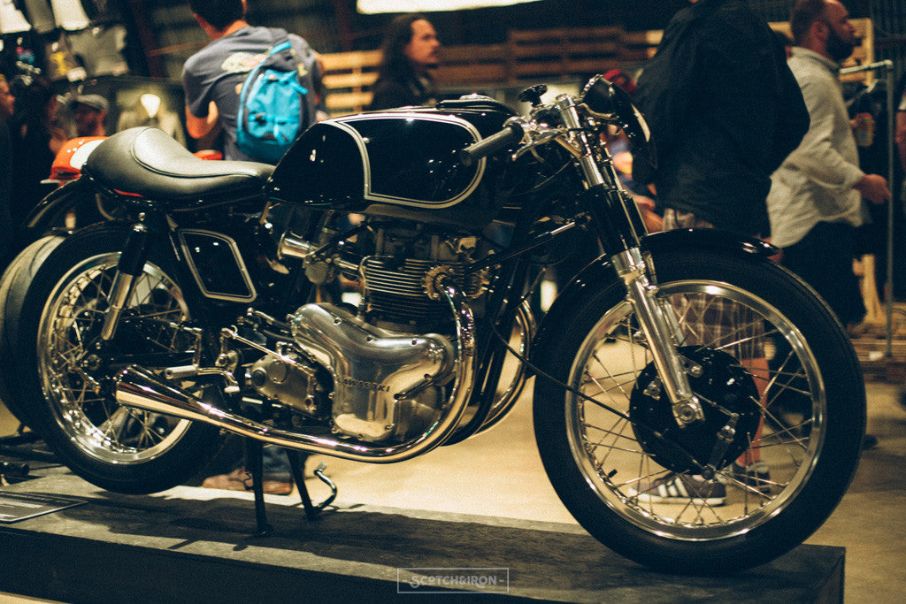 kawasaki cafe racer at handbuilt show 2016