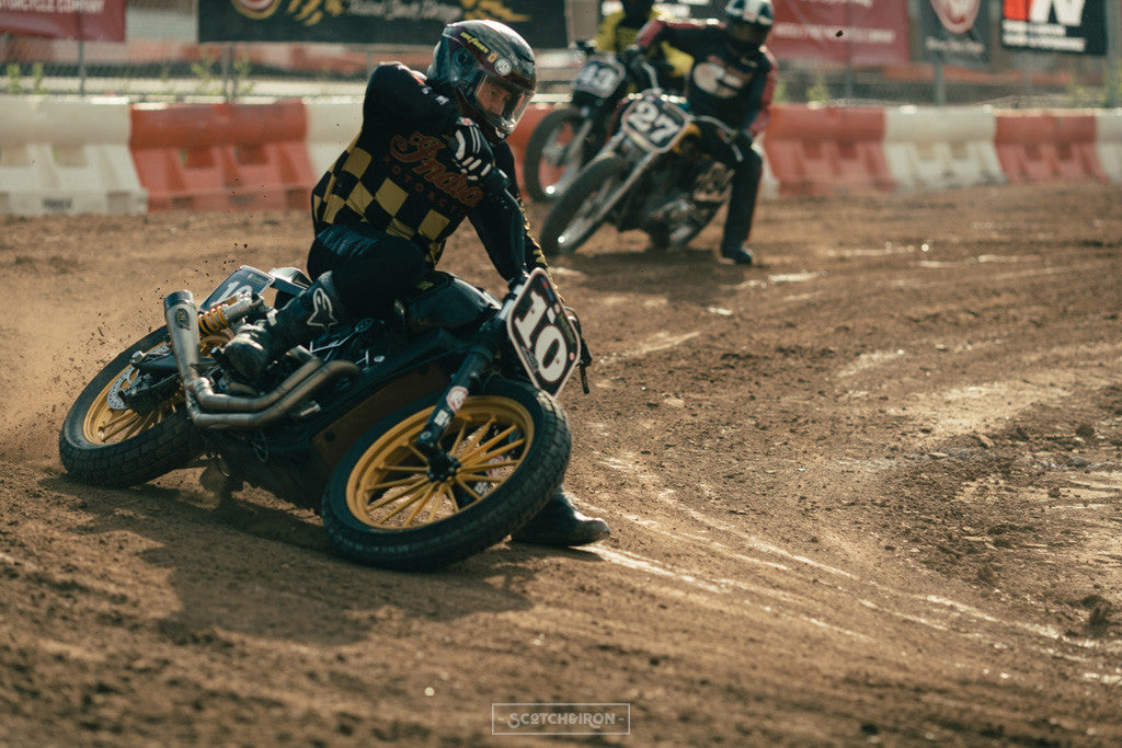 roland sands at hooligan flat track race austin texas