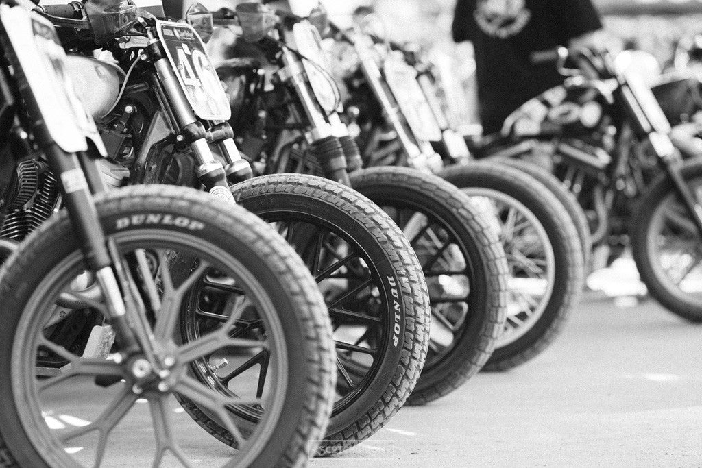 flat track bikes front tires at handbuilt show 2016