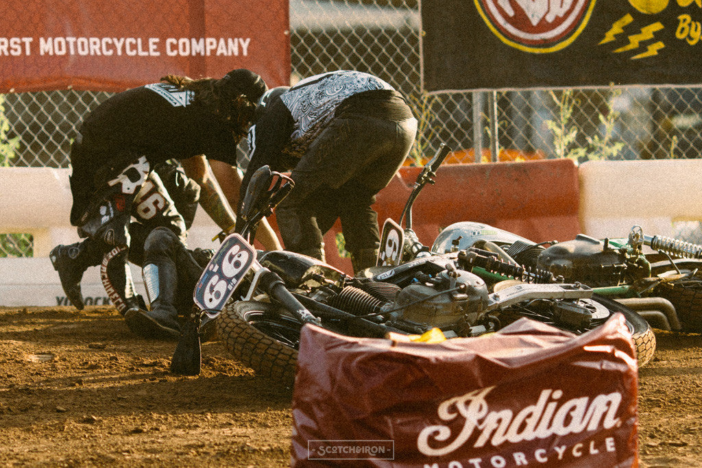 crash at hooligan race handbuilt show 2016