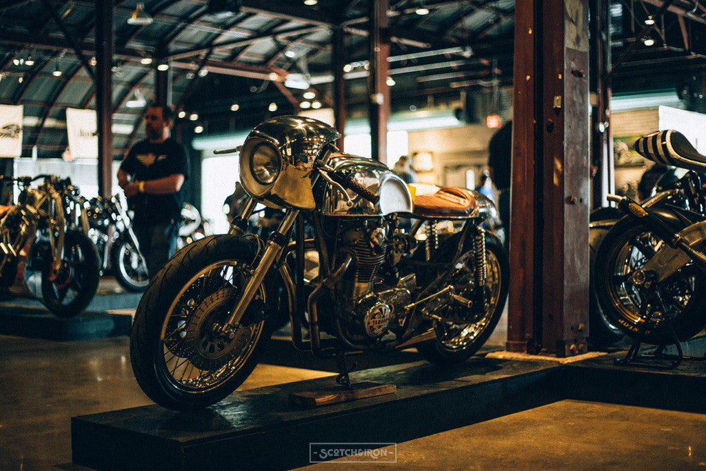 yamaha xs650 cafe racer at handbuilt show 2016