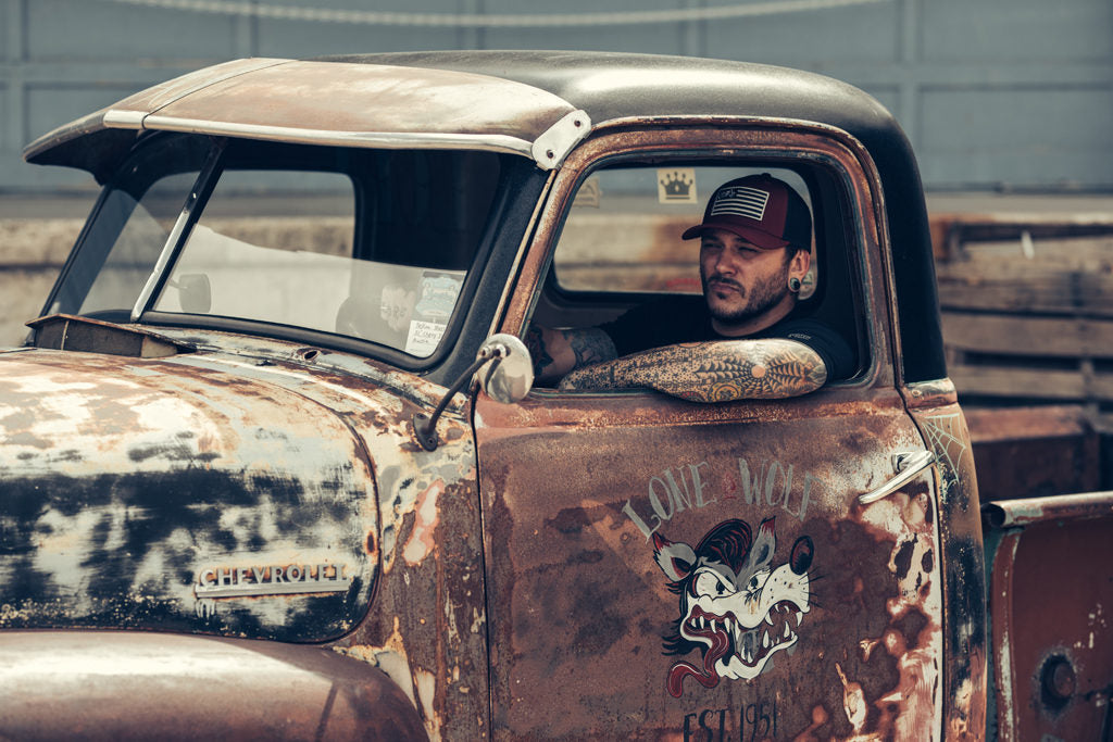 patina chevy c10 truck bagged scotch and iron