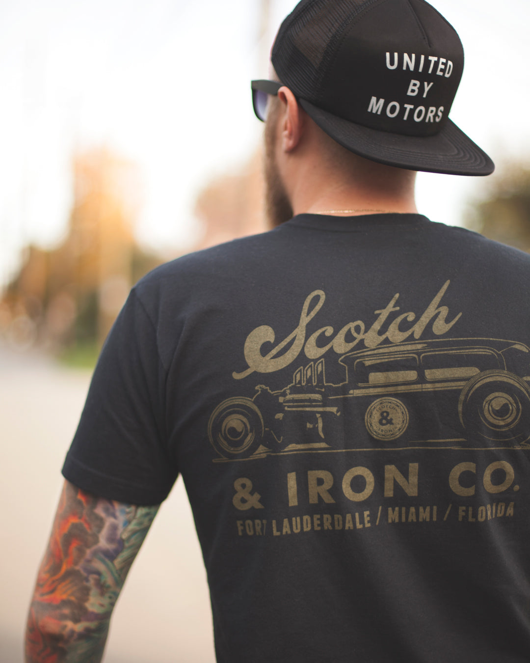scotch and iron tudor hot rod tshirt