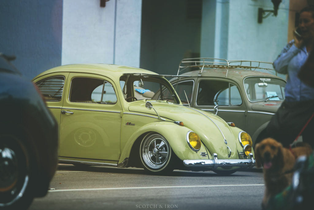 volkswagen bug beetle yellow lowered volksblast 2018