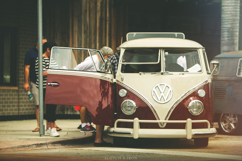 people looking at vw bus volksblast 2018