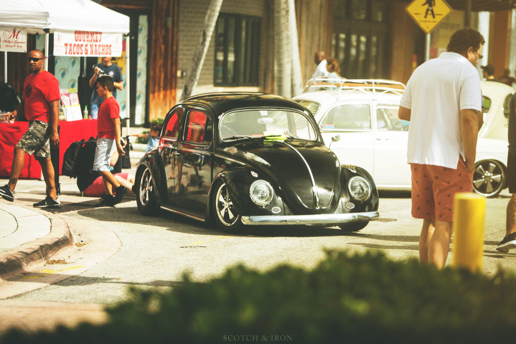 black lowered vw bug volksblast miami 2018