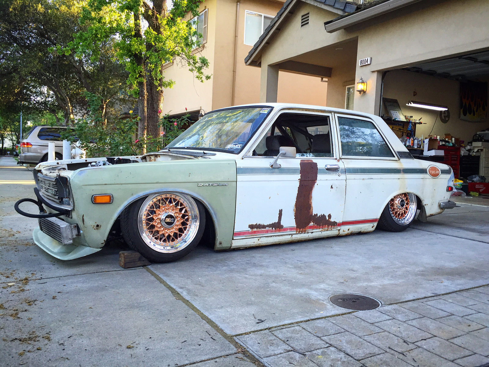 Bagged and Rotary Datsun 510_20