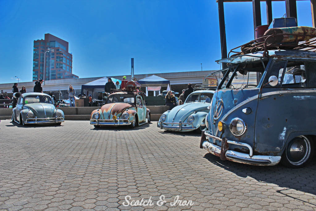collection of air-cooled VW bugs