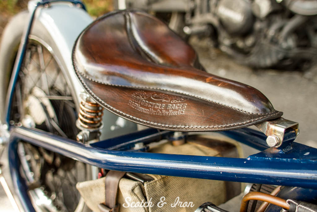 custom seat on xs650 bobber