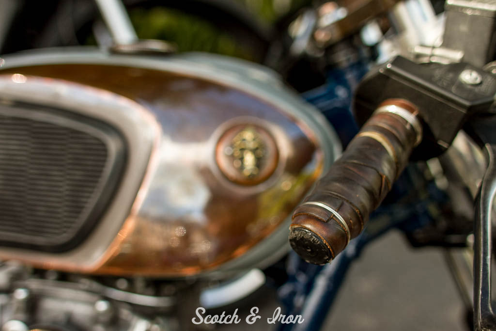 leather handlebar grips on xs650 bobber