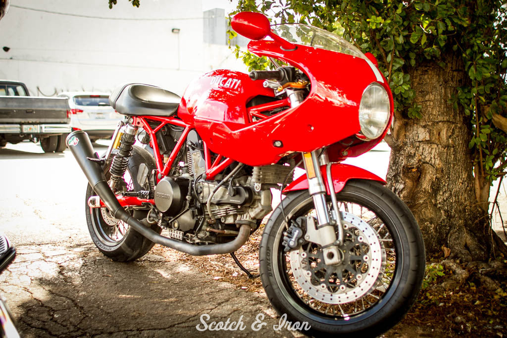 Ducati cafe racer seen on Scotch and Iron