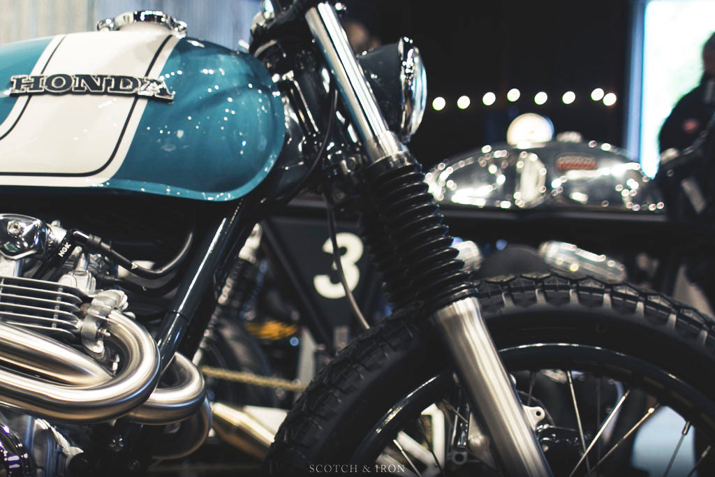 honda cb550 scrambler by J. Webster Designs custom forks
