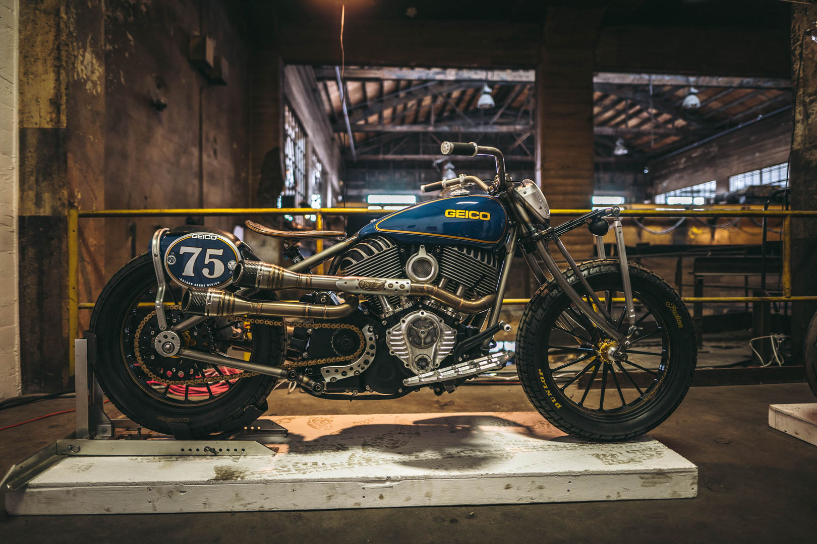 roland sands designs custom springer bobber at one moto show