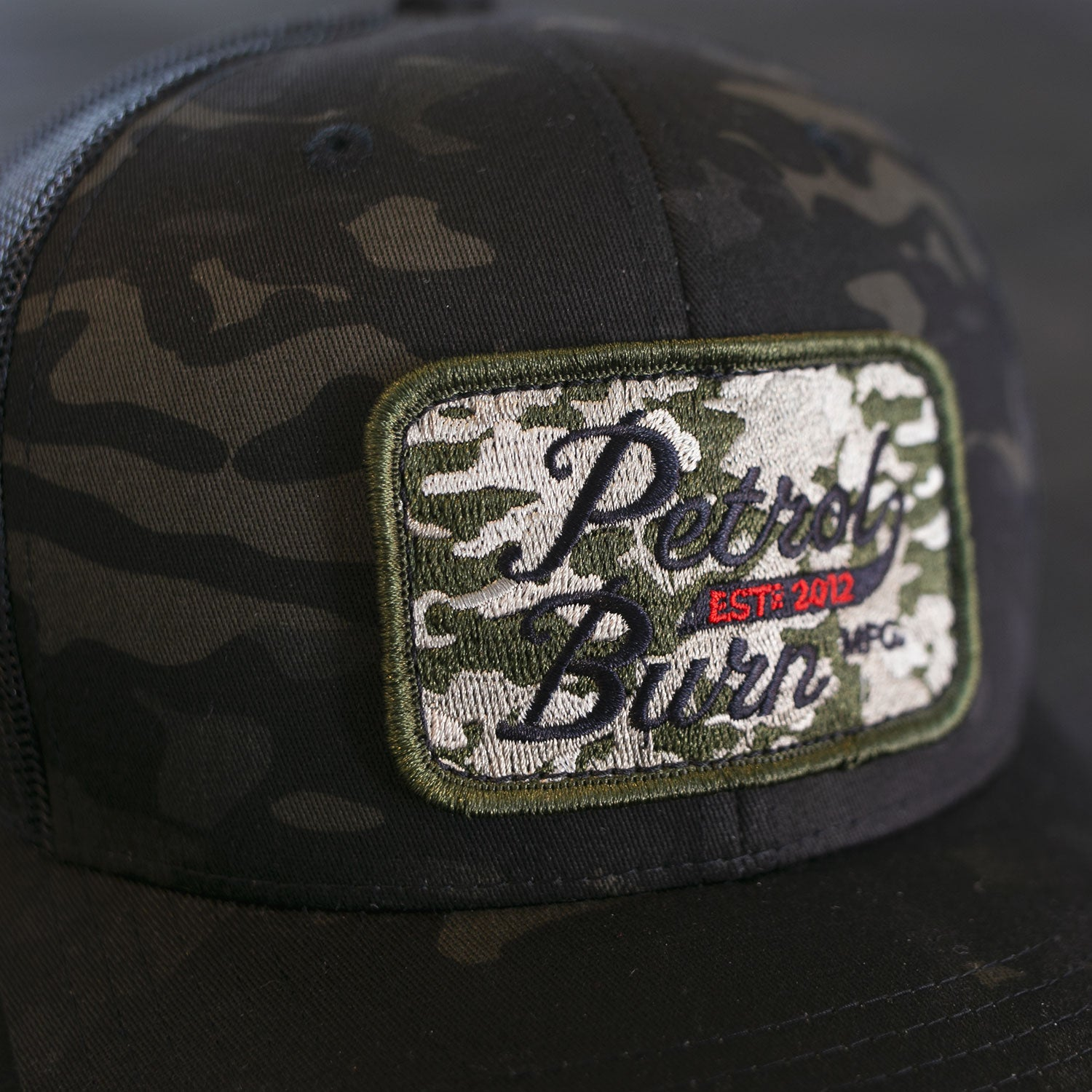 petrol burn gasoline culture camo hat