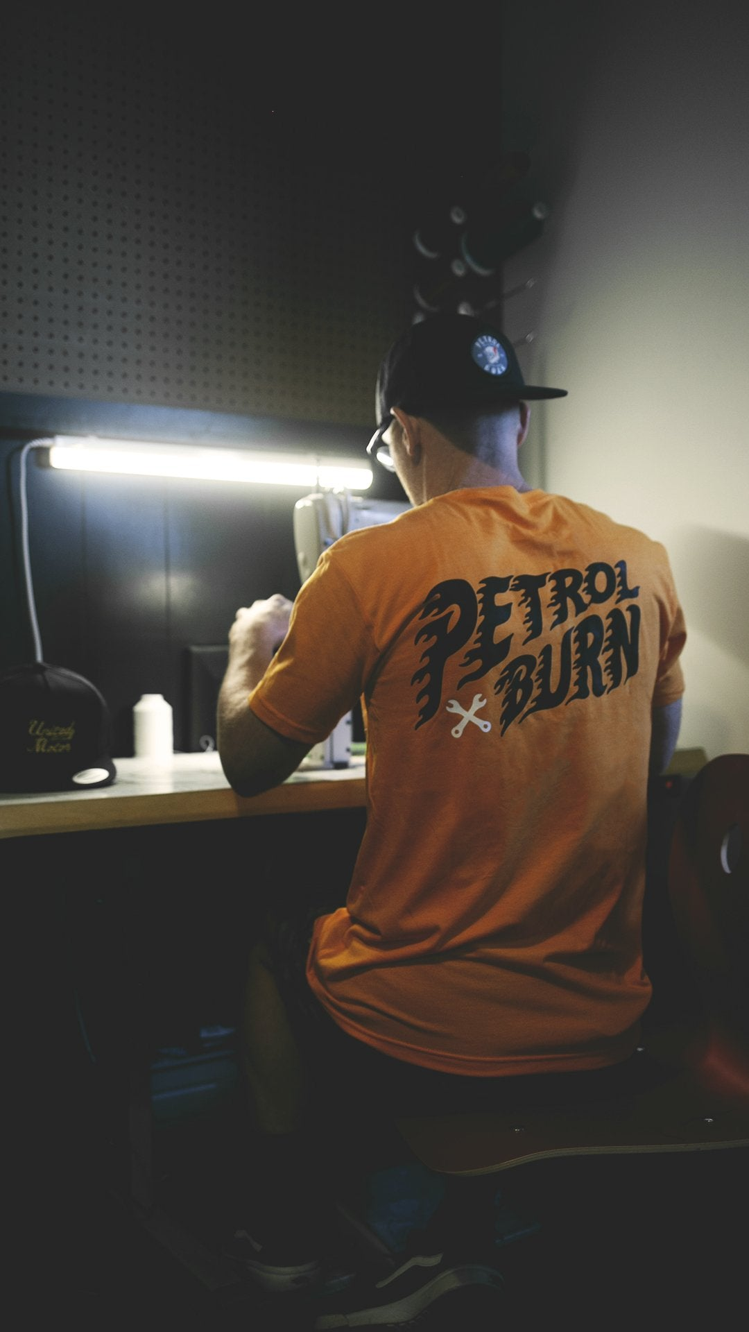 motorcycle and auto lifestyle inspired petrol burn tshirt