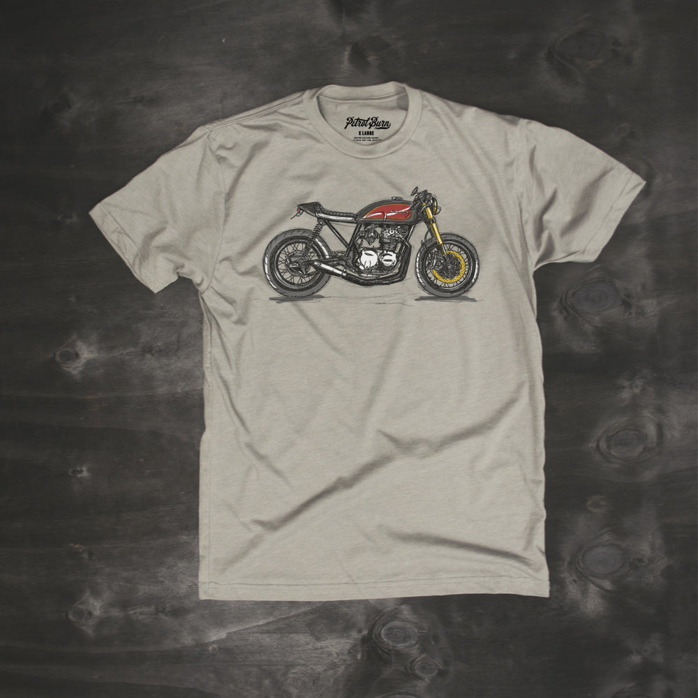 cafe racer motorcycle cb550 vintage lifestyle tshirt