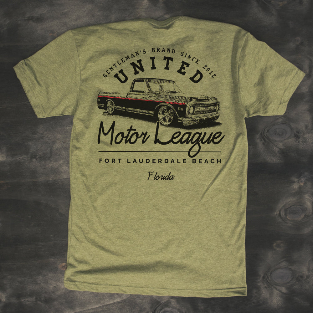 bagged chevy c-10 c10 custom truck t-shirt