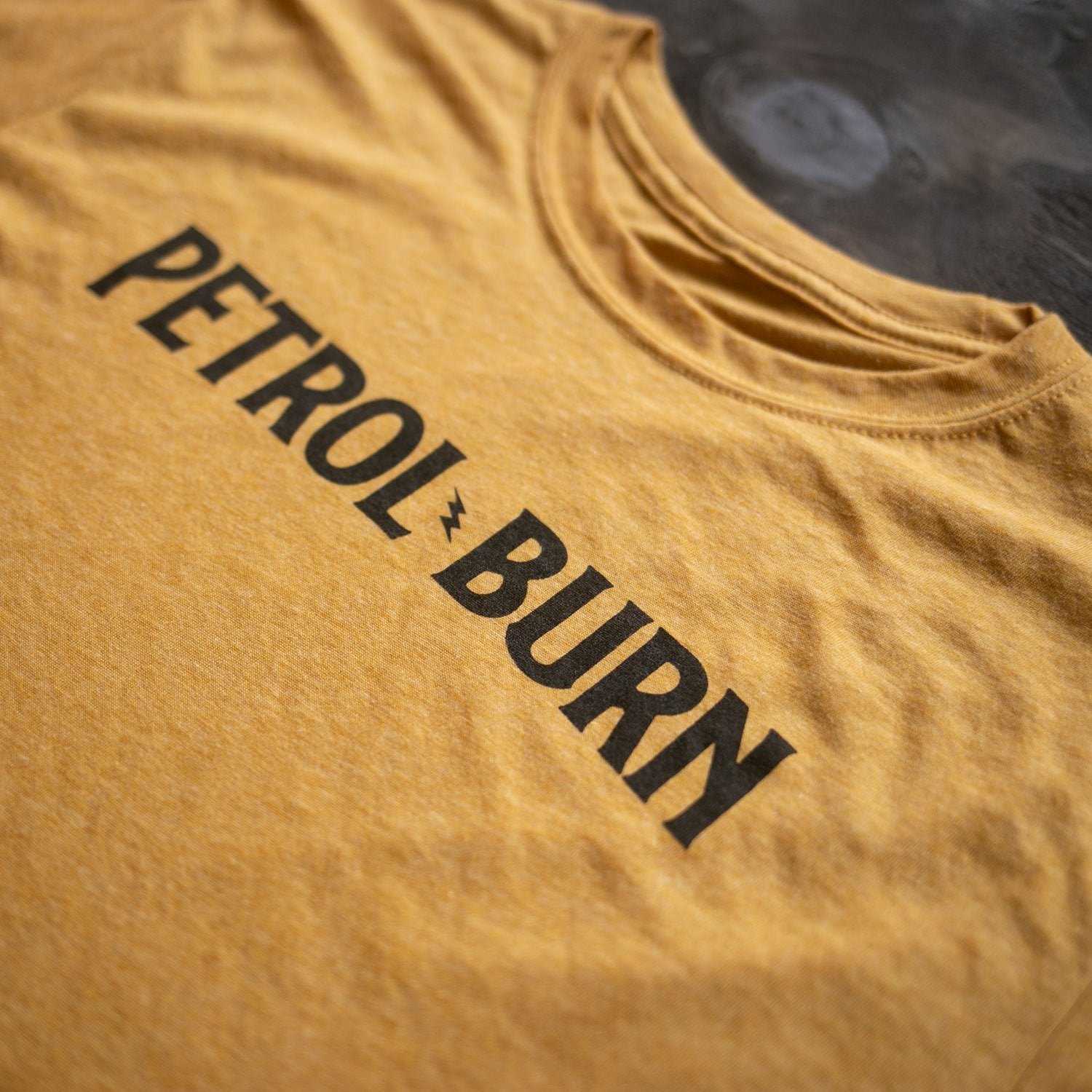 petrol burn chemical fuel additive vintage inspired mens t-shirt