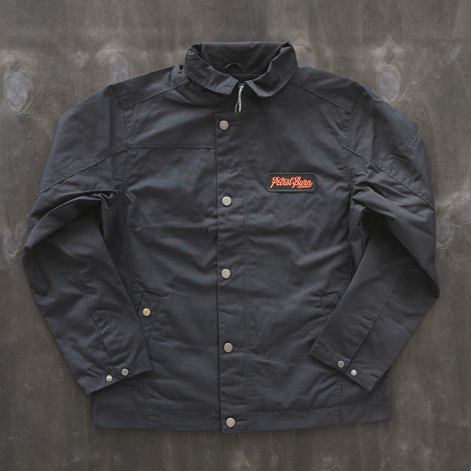 motor and auto lifestyle canvas shop jacket