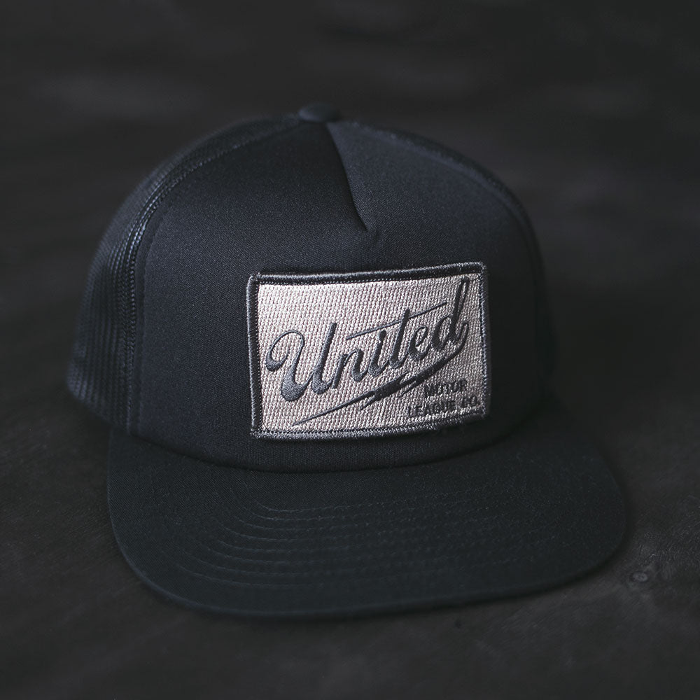 charcoal gray united motor league patch hat