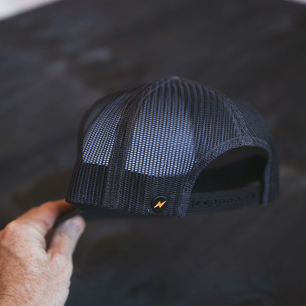 Brain Bucket II Gray Trucker