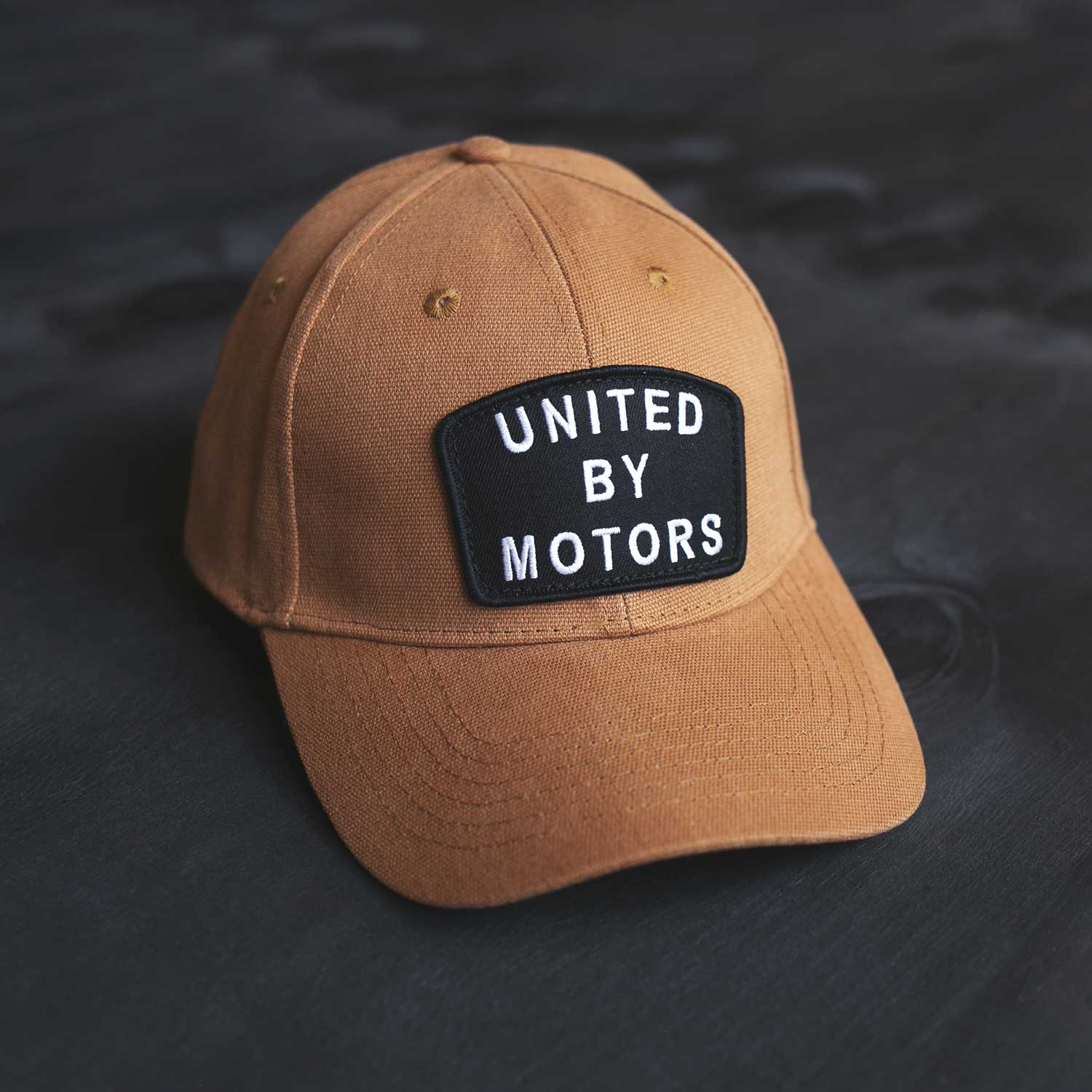 united by motors duck cotton canvas work wear moto inspired hat