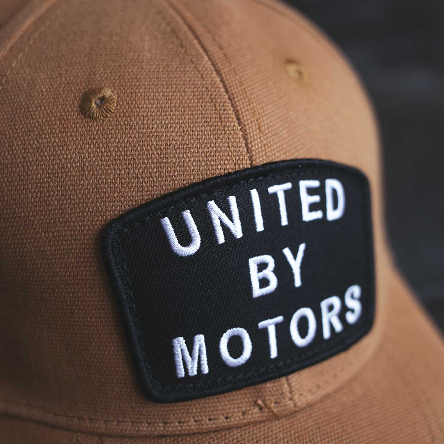 united by motors moto lifestyle cotton duck curved bill hat