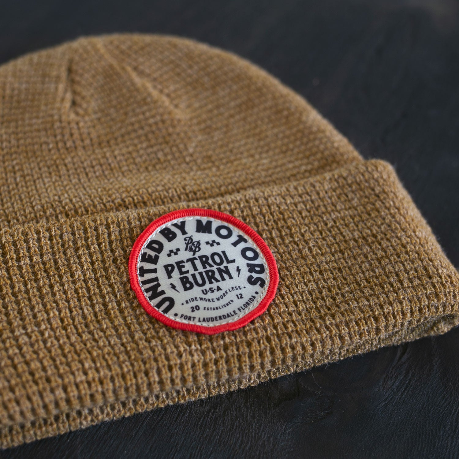 United By Motors Waffle Knit Gold