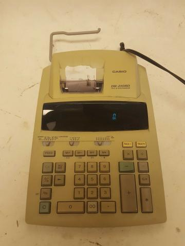 Casio DR-210HD Tax & Exchange Desktop Calculator Tested Working
