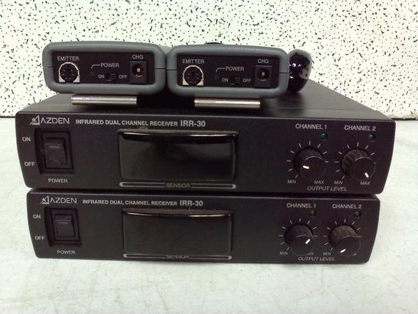 Adzen IRR-30 and IRB-10c - Two Each Infrared Dual Channel Receiver & Transmitter