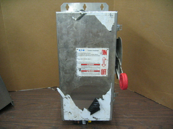 Eaton Cutler-Hammer 30A 600V Stainless DH361FWK Safety Switch Service Disconnect