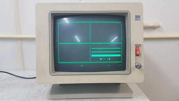 Vintage IBM 3180 2 Workstation Terminal Monitor with Key