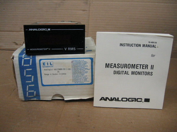 Analogic AN/25M08-TP-1-XX-2X Measurometer II True RMS Monitor