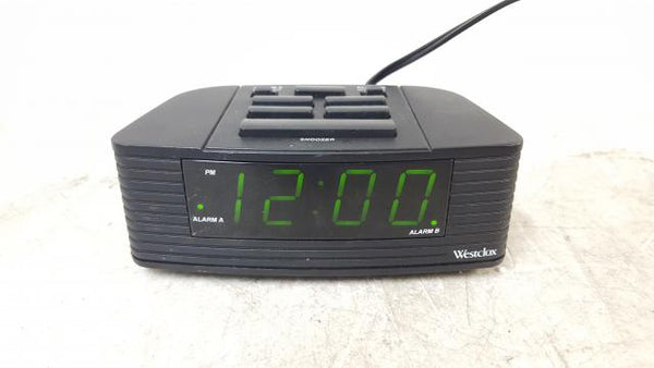 Westclox 129061 Double Alarm Digital Clock Green Display