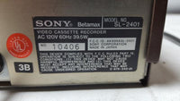 Vintage Sony SL-2401 Betamax Player Recorder As Is for Parts/Repair