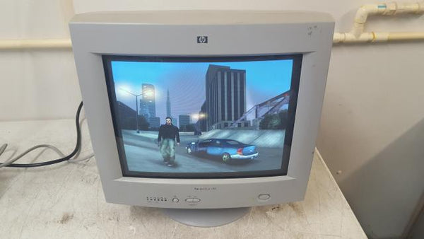 Vintage Gaming HP Hewlett Packard Pavillion v50 P1287S CRT Computer Monitor 2001