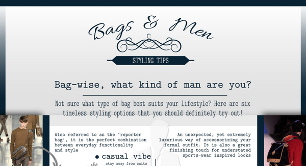 Bag-Wise, What Kind of Man Are You? [Infographic]