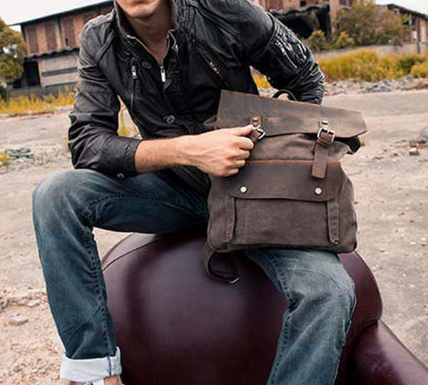 Handcrafted Genuine Leather Backpack