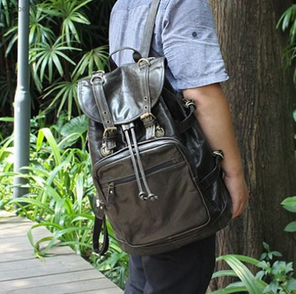 stylish leather backpack for men by Serbags