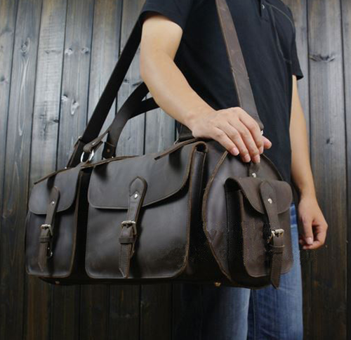 gorgeous leather duffel bag for men by Serbags