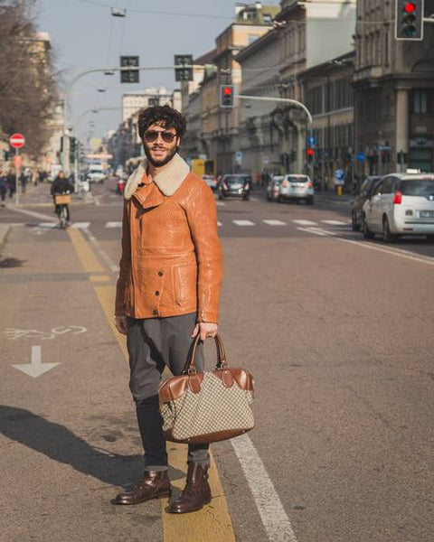 stylish leather tote bags for men by Serbags